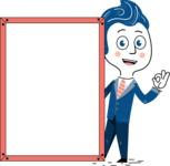 112 Blue Hand-Drawn Cartoon Character Illustrations - Presentation 4