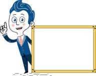 112 Blue Hand-Drawn Cartoon Character Illustrations - Presentation 5