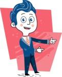 112 Blue Hand-Drawn Cartoon Character Illustrations - Shape 2