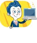 112 Blue Hand-Drawn Cartoon Character Illustrations - Shape 7
