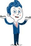 112 Blue Hand-Drawn Cartoon Character Illustrations - Showcase 2