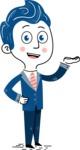 112 Blue Hand-Drawn Cartoon Character Illustrations - Showcase