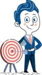 112 Blue Hand-Drawn Cartoon Character Illustrations - Target