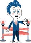 112 Blue Hand-Drawn Cartoon Character Illustrations - Under Construction 2