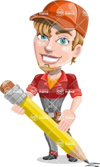 Kyle the Problem Solver Mechanic - Pencil