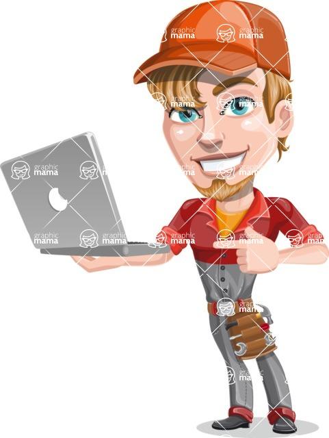 Kyle the Problem Solver Mechanic - Laptop 1