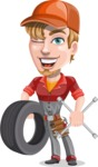 Kyle the Problem Solver Mechanic - Tire and tool