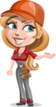 Pretty Mechanic Girl Cartoon Vector Character AKA Carlita - Presenting