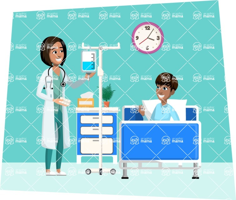 Good Health - Doctors, Medical pack of vector graphics - editable characters, items, icons, illustrations, backgrounds - Illustration 7