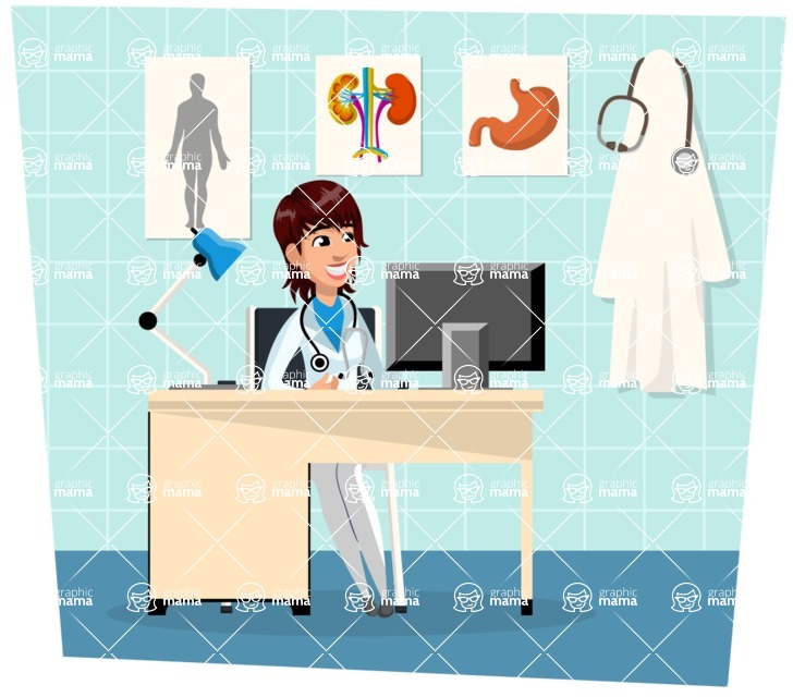 Good Health - Doctors, Medical pack of vector graphics - editable characters, items, icons, illustrations, backgrounds - Illustration 14