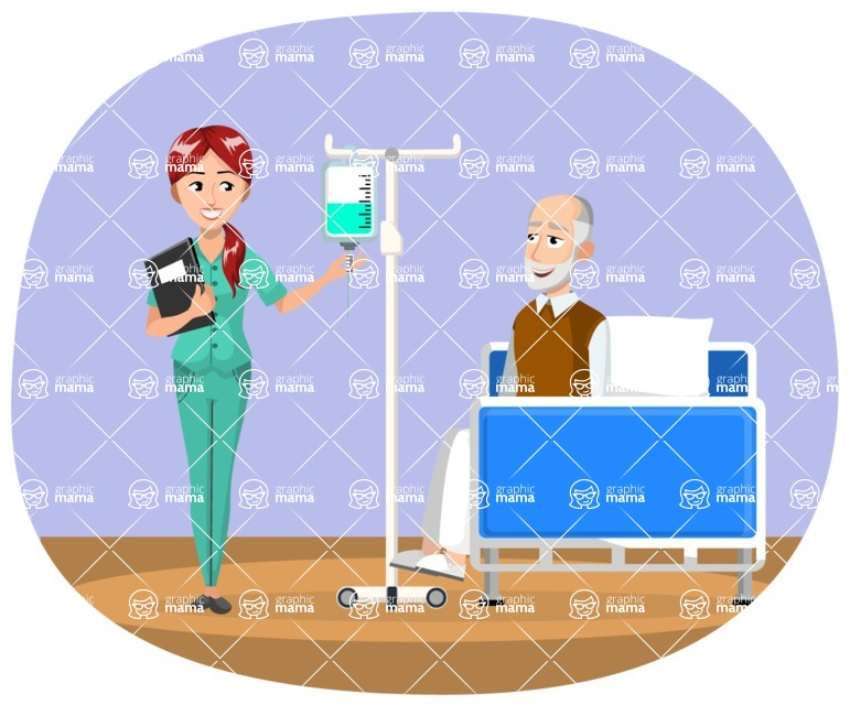 Good Health - Doctors, Medical pack of vector graphics - editable characters, items, icons, illustrations, backgrounds - Illustration 17