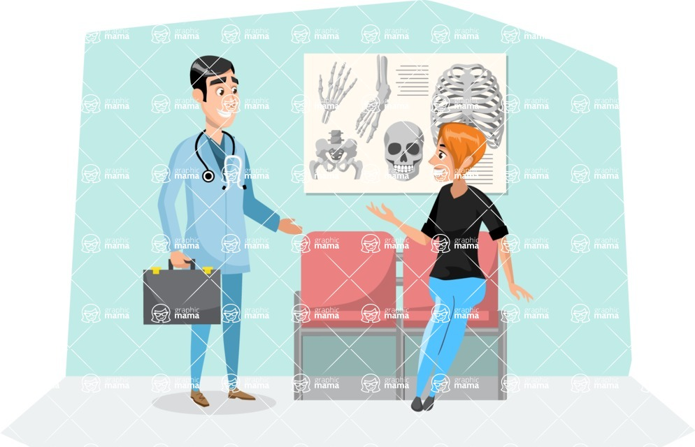 Good Health - Doctors, Medical pack of vector graphics - editable characters, items, icons, illustrations, backgrounds - Illustration 20
