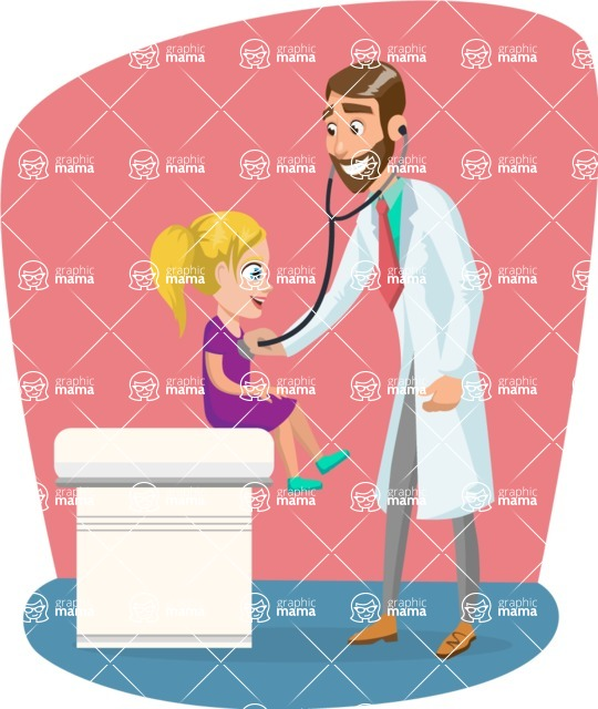 Good Health - Doctors, Medical pack of vector graphics - editable characters, items, icons, illustrations, backgrounds - Illustration 30