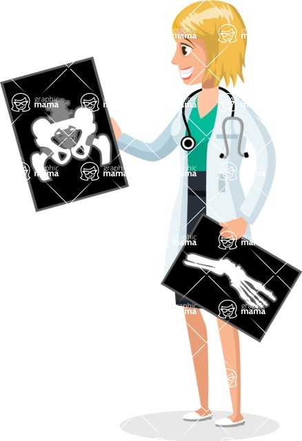 Good Health - Doctors, Medical pack of vector graphics - editable characters, items, icons, illustrations, backgrounds - Character 18