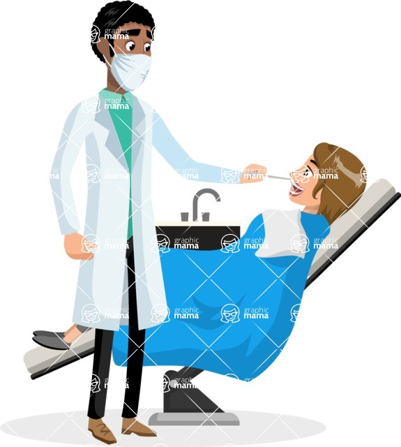 Good Health - Doctors, Medical pack of vector graphics - editable characters, items, icons, illustrations, backgrounds - Character 23