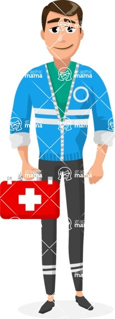 Good Health - Doctors, Medical pack of vector graphics - editable characters, items, icons, illustrations, backgrounds - Character 24