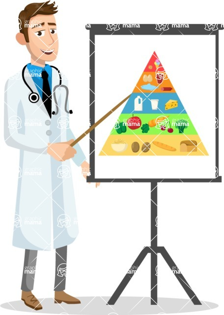 Good Health - Doctors, Medical pack of vector graphics - editable characters, items, icons, illustrations, backgrounds - Character 36