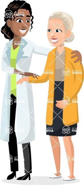 Good Health - Doctors, Medical pack of vector graphics - editable characters, items, icons, illustrations, backgrounds - Character 39