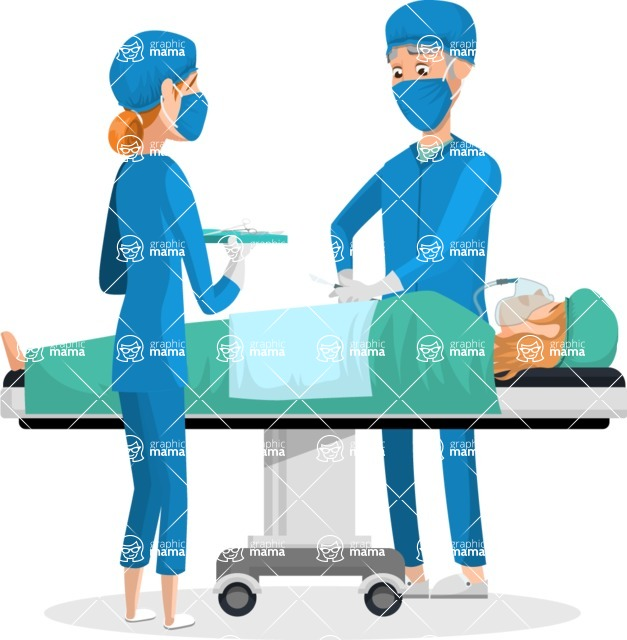 Good Health - Doctors, Medical pack of vector graphics - editable characters, items, icons, illustrations, backgrounds - Character 4