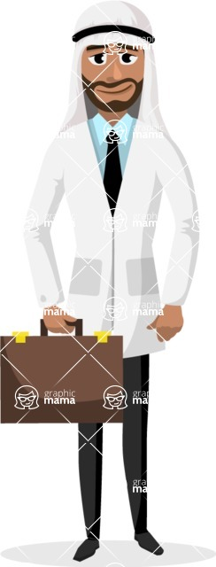 Good Health - Doctors, Medical pack of vector graphics - editable characters, items, icons, illustrations, backgrounds - Character 54