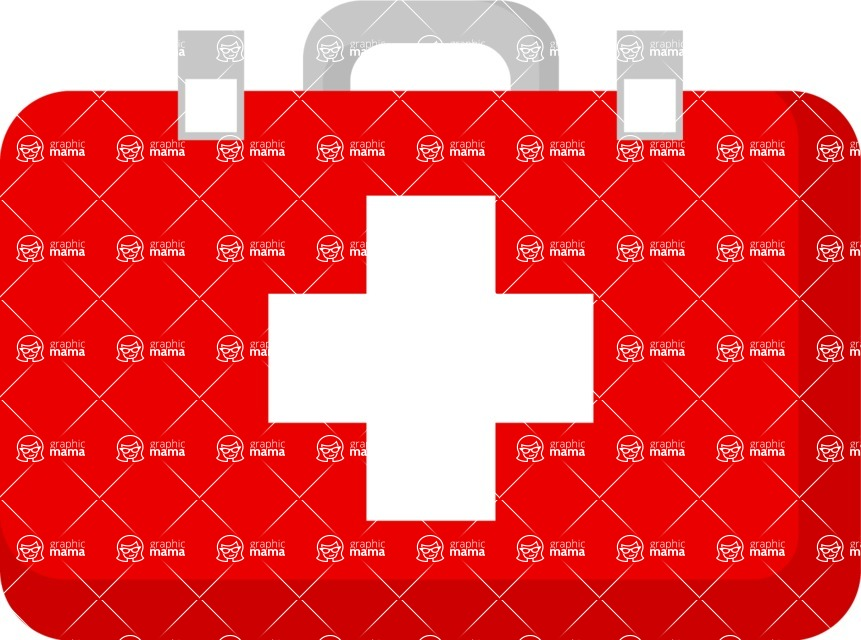 Good Health - Doctors, Medical pack of vector graphics - editable characters, items, icons, illustrations, backgrounds - Item 3