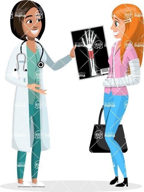 Good Health - Doctors, Medical pack of vector graphics - editable characters, items, icons, illustrations, backgrounds - Character 7