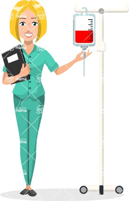 Good Health - Doctors, Medical pack of vector graphics - editable characters, items, icons, illustrations, backgrounds - Character 8