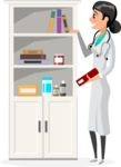 Good Health - Doctors, Medical pack of vector graphics - editable characters, items, icons, illustrations, backgrounds - Character 21