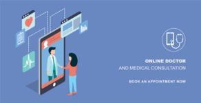 Medical Vectors - Mega bundle - Modern Online Medical Consultation Banner Design