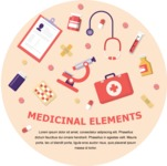 Medical Vector Collection - Circle Medical Banner Template with Medical Accessories