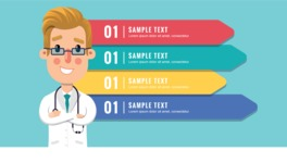 Medical Vector Collection - Medical Infographic Template with a Doctor