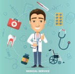 Medical Vector Collection - Medical Service Vector Illustration