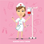 Medical Vectors - Mega bundle - Medical Nurse Vector Illustration