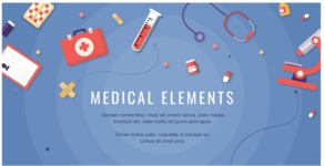 Medical Vector Collection - Medical Banner with Medicine Elements