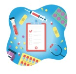 Medical Vectors - Mega bundle - Medical Clipboard with Checkboxes Illustration Concept