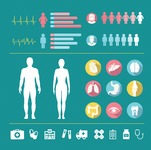 Medical Vectors - Mega bundle - Vector Medical Infographic Icon Set