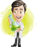 Doctor with Stethoscope Cartoon Vector Character AKA Dr Matthews GP - Shape 9