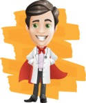 Doctor with Stethoscope Cartoon Vector Character AKA Dr Matthews GP - Shape 12
