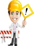 Doctor with Stethoscope Cartoon Vector Character AKA Dr Matthews GP - Construction