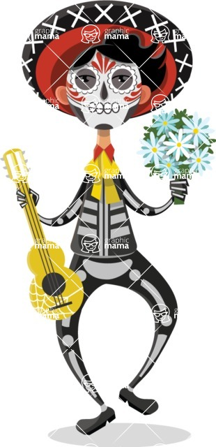 """""""Day of The Dead"""" Musician"""