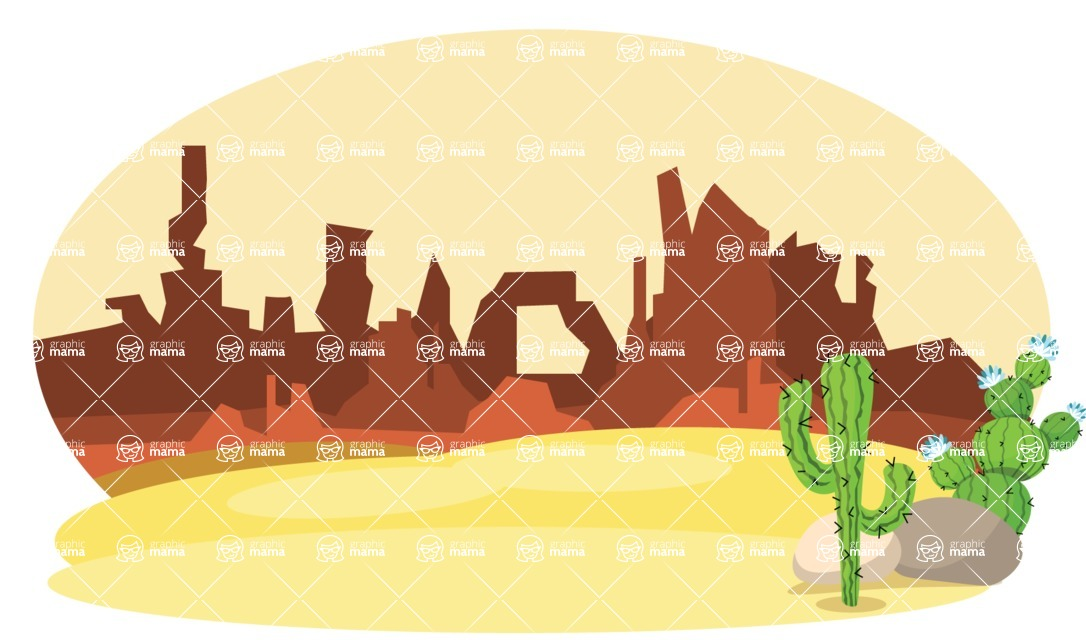 Mexico Vectors - Mega Bundle - Mexico Desert Scenery