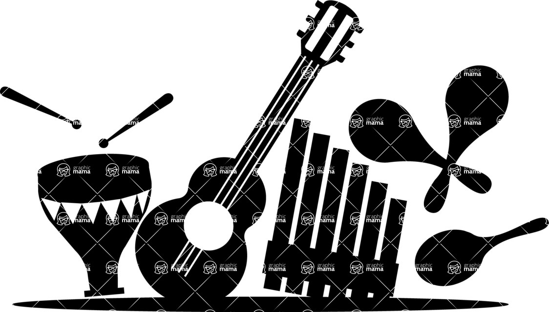 Mexico Vectors - Mega Bundle - Mexican Musical Instruments