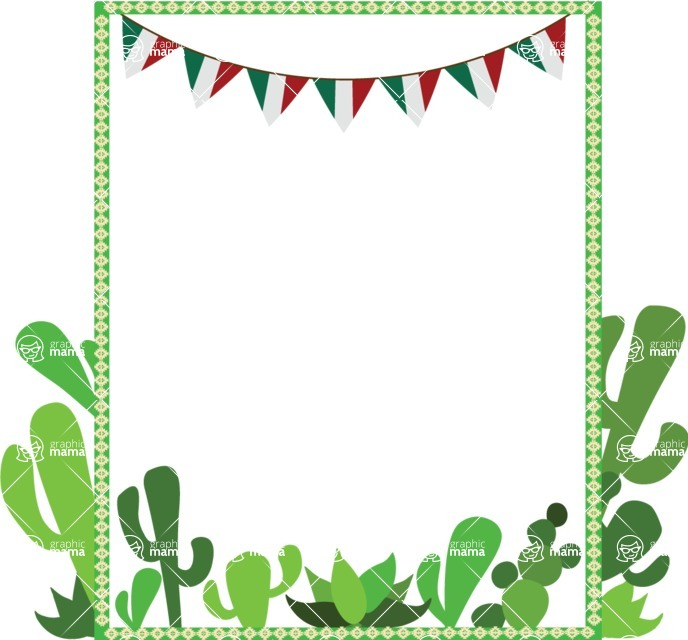 Mexico Vectors - Mega Bundle - Mexican Frame with Cactuses