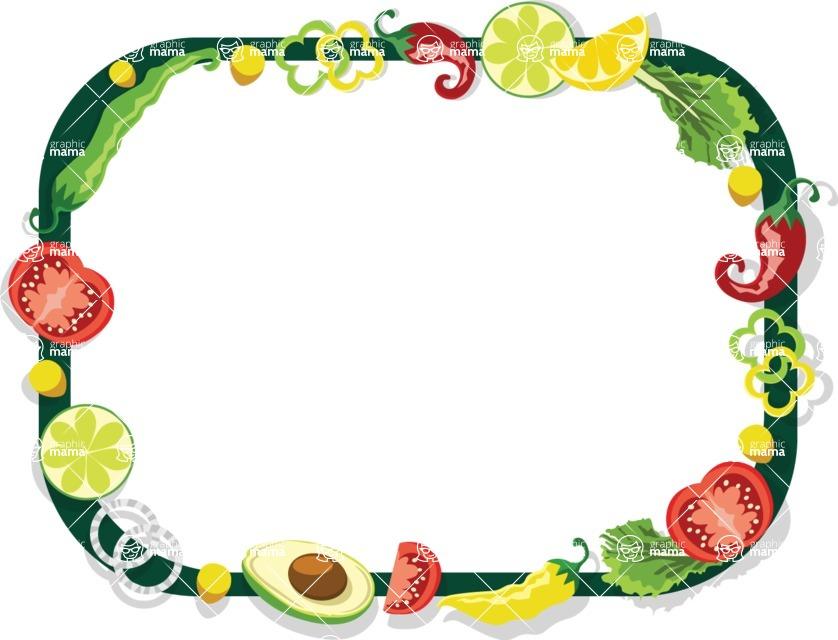Mexico Vectors - Mega Bundle - Vegetables Frame