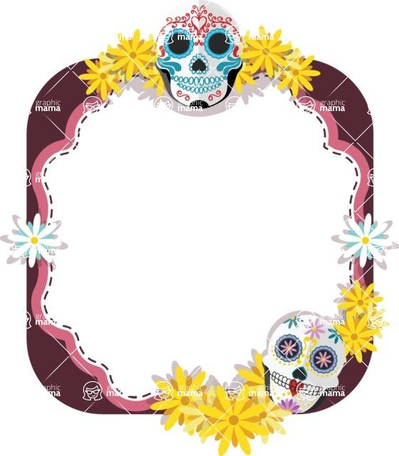 Mexican Skull Mask Frame | GraphicMama | GraphicMama