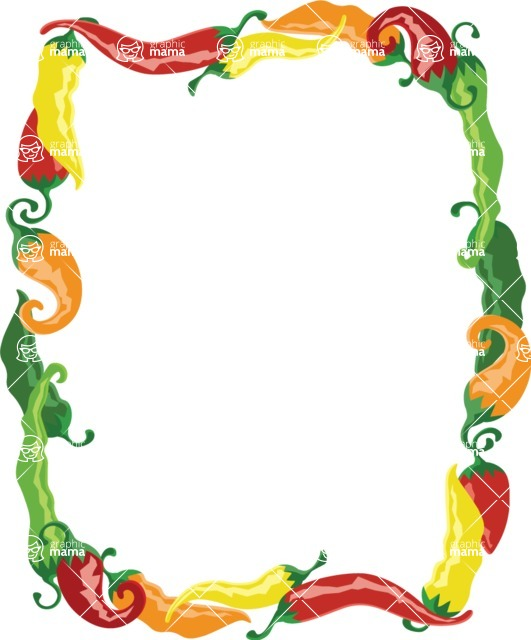 Mexico Vectors - Mega Bundle - Chili Peppers Frame