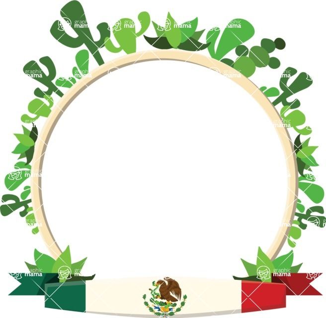 Mexico Vectors - Mega Bundle - Frame with the Flag of Mexico
