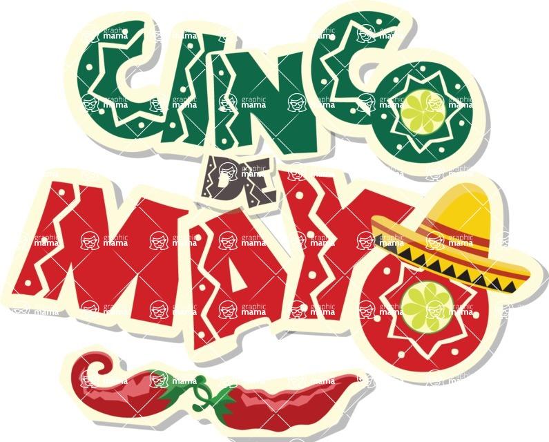 Mexico Vectors - Mega Bundle - Cinco de Mayo Sticker