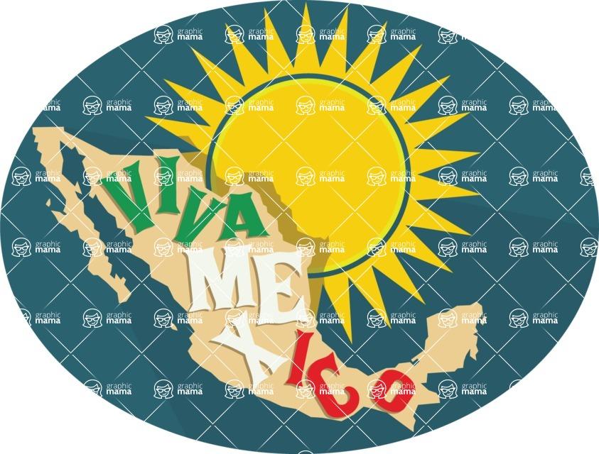 Mexico Vectors - Mega Bundle - Viva Mexico Sticker