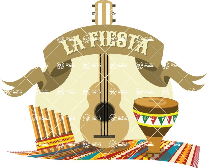 Mexico Vectors - Mega Bundle - La Fiesta Mexican Sticker
